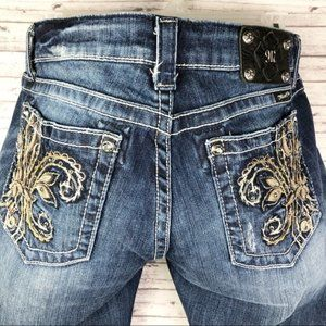 Miss Me Bling Crystal Studded Boot Jeans Size 34